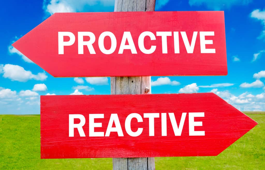 Proactive vs Reactive